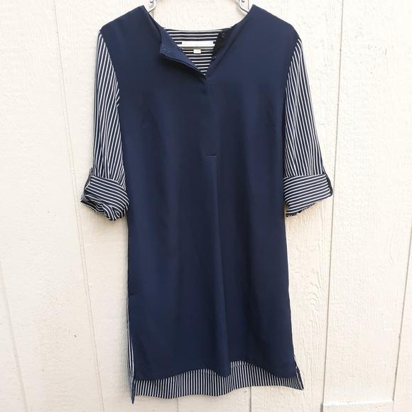 LOFT Dresses & Skirts - LOFT Ann Taylor size small shirt dress navy